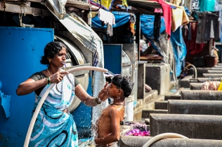 ON THE BY LANES OF DHOBI GHAT